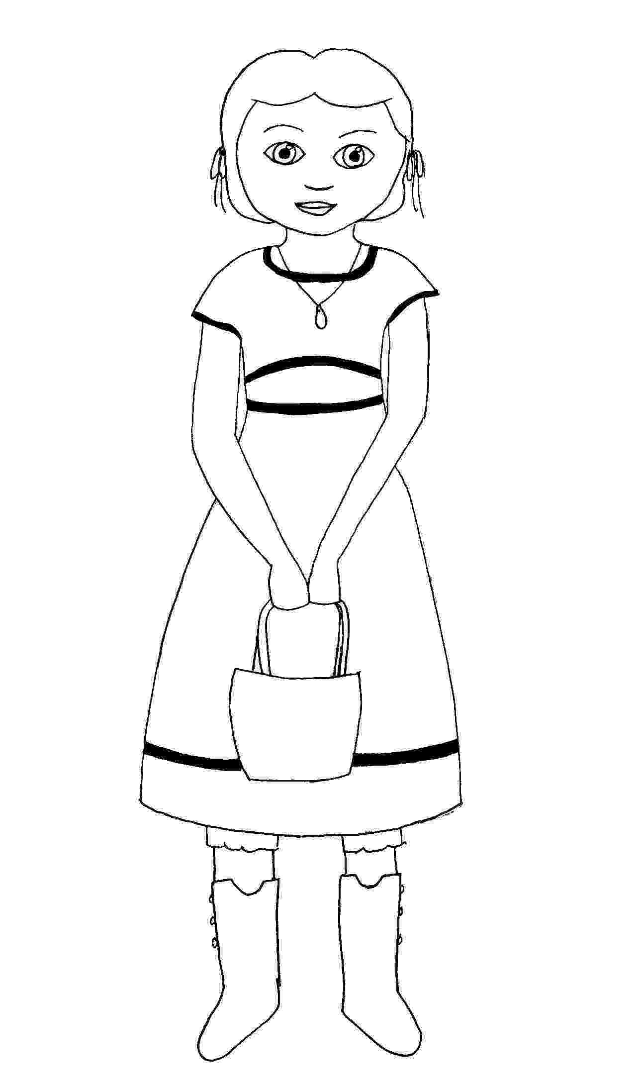 coloring picture of girl american girl coloring pages beforever small dolls in a coloring picture of girl