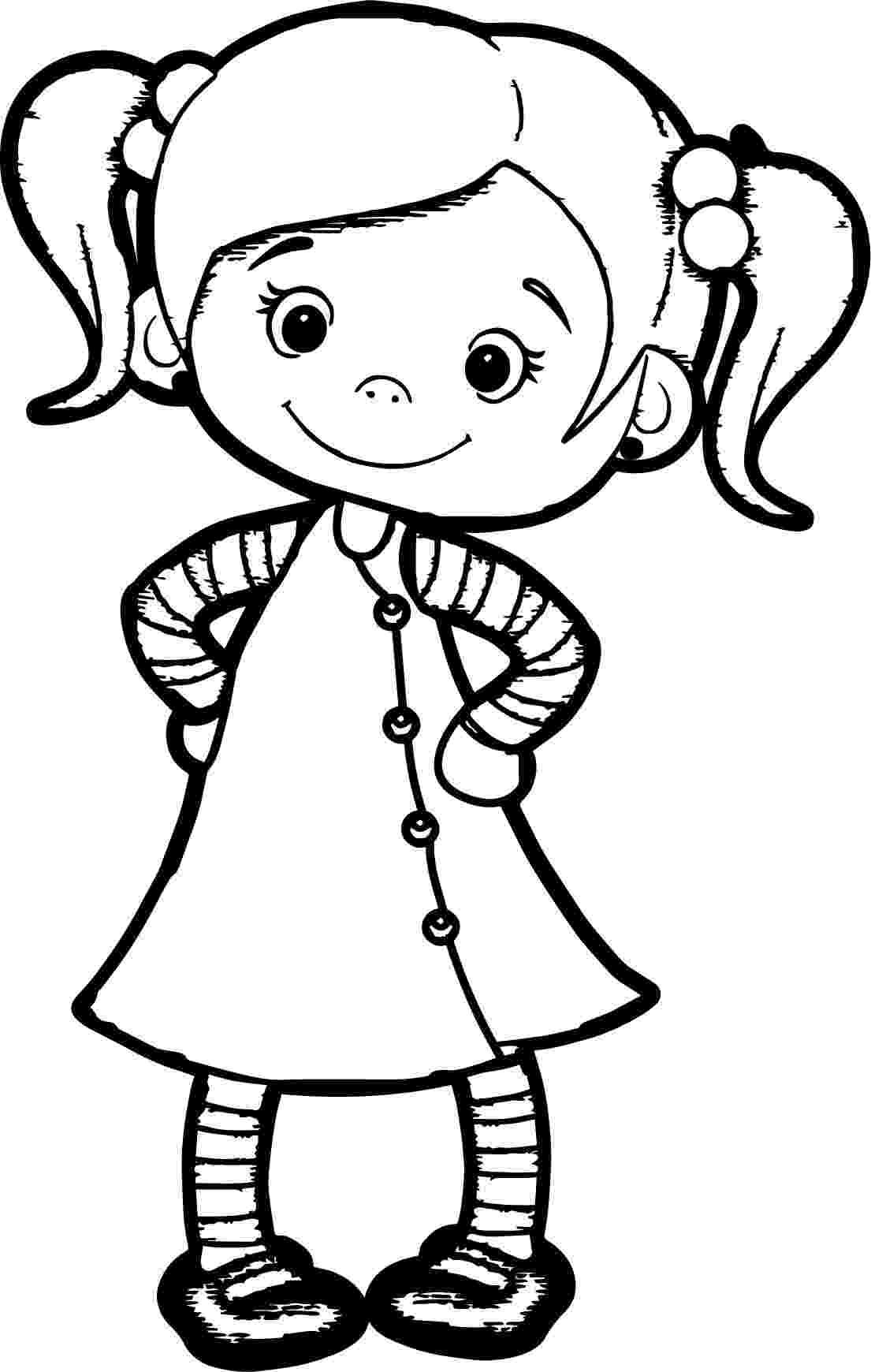 coloring picture of girl girl from lazy town paper dolls animals dibujos para picture coloring girl of