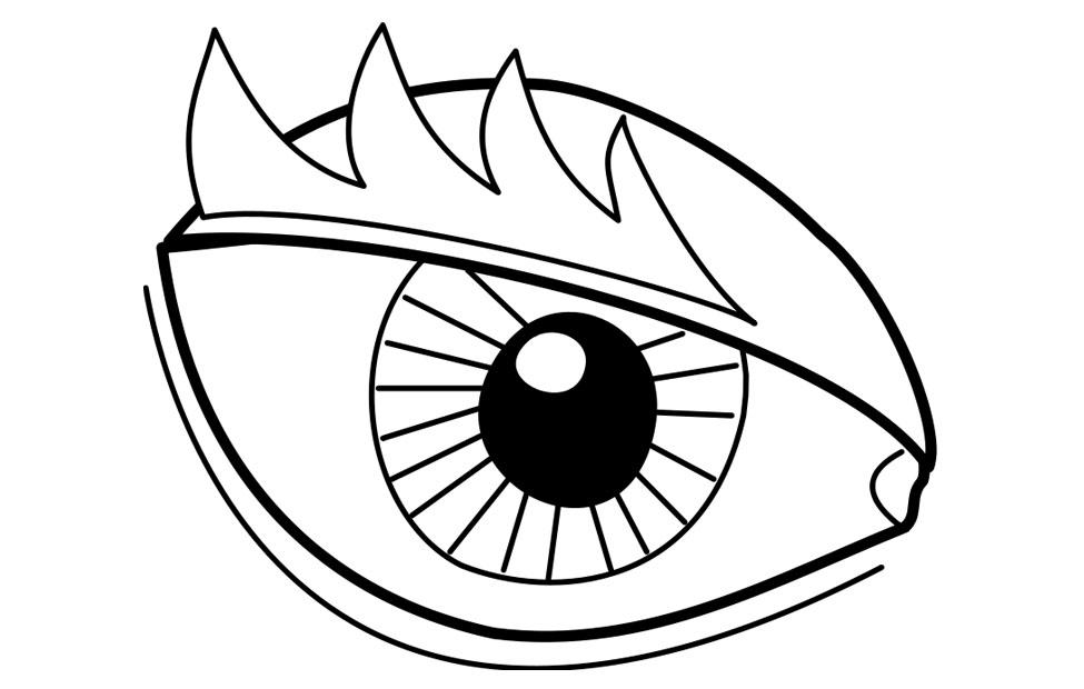 coloring pictures of eyes eye coloring page free download on clipartmag eyes coloring pictures of