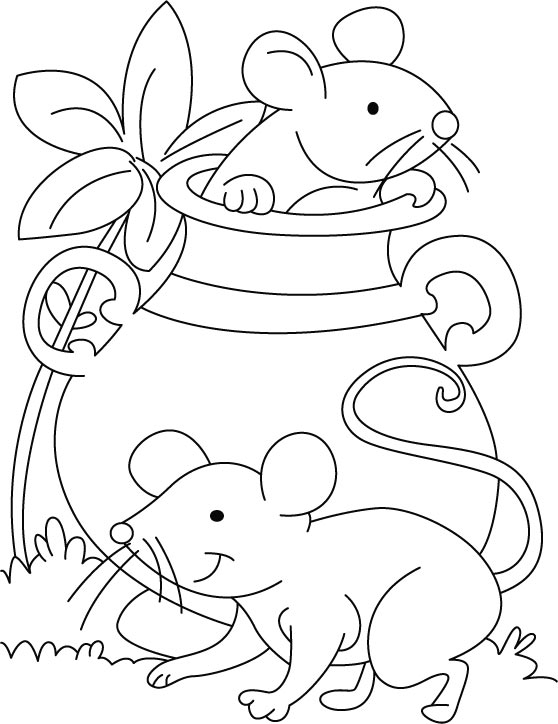 coloring pictures of mice mouse playing hide n seek coloring pages download free coloring pictures of mice