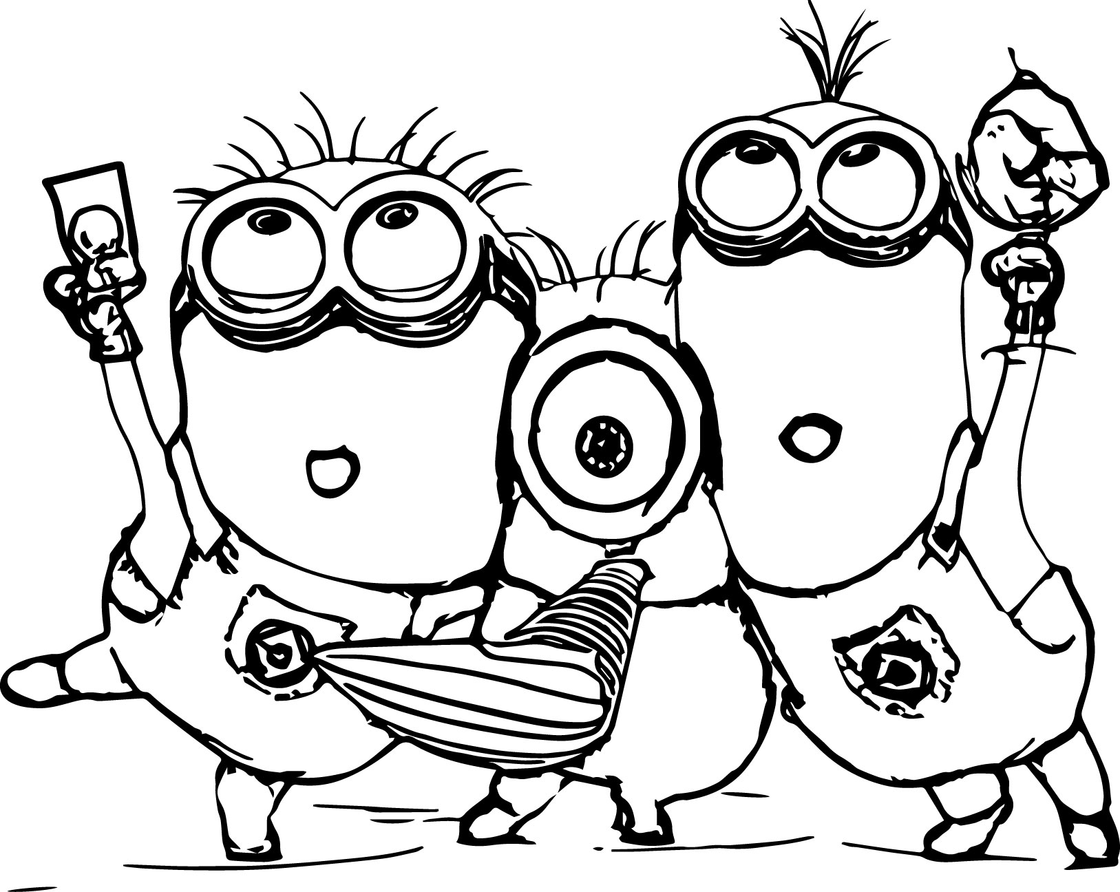 coloring pictures of minions minion coloring pages best coloring pages for kids coloring pictures of minions 1 1