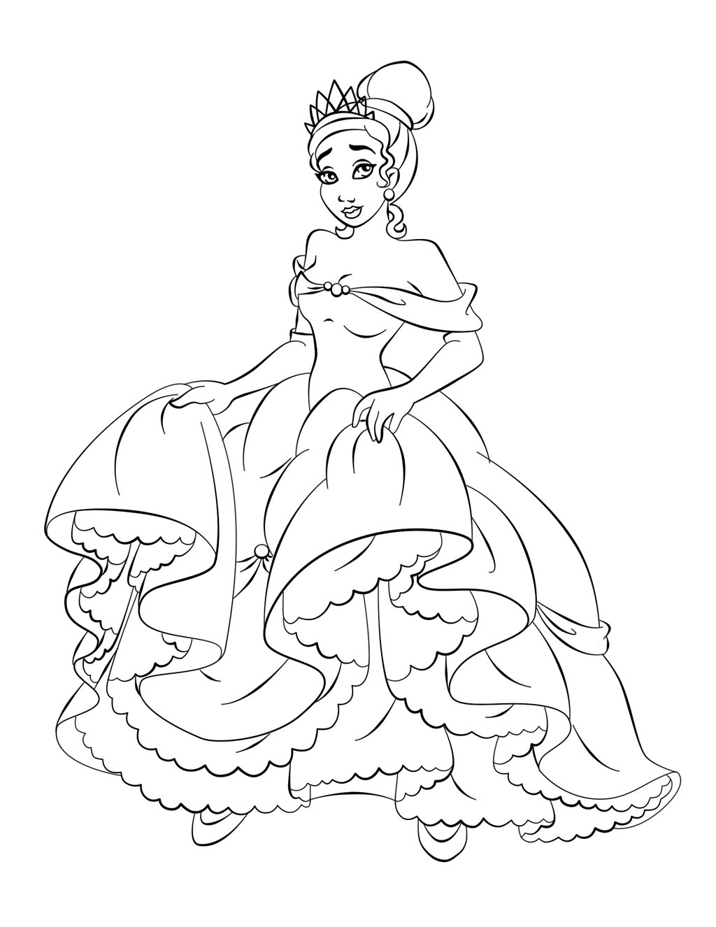 coloring pictures of princesses disney princess tiana coloring pages to girls princesses pictures coloring of