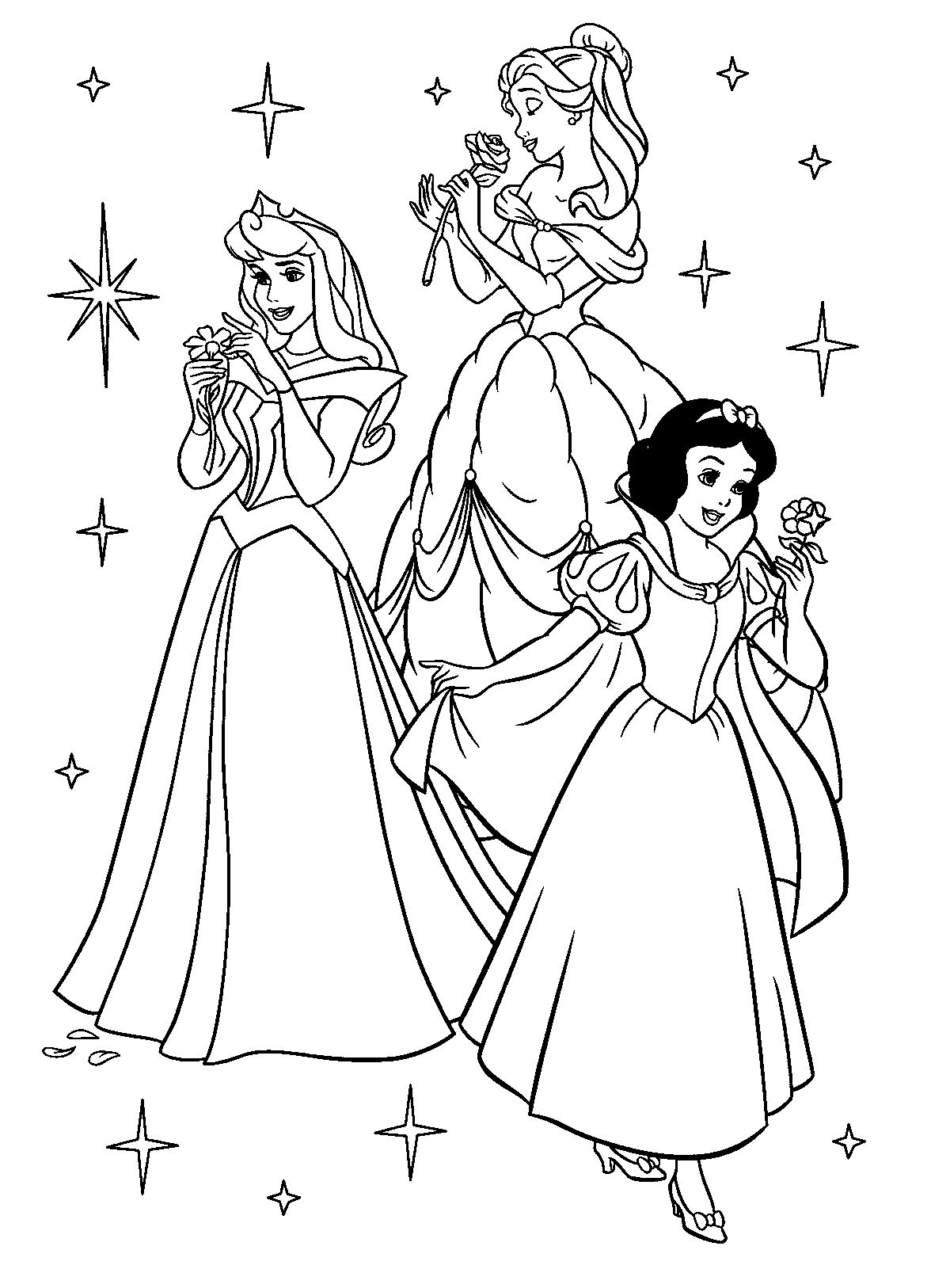 coloring pictures of princesses free printable disney princess coloring pages for kids of coloring princesses pictures