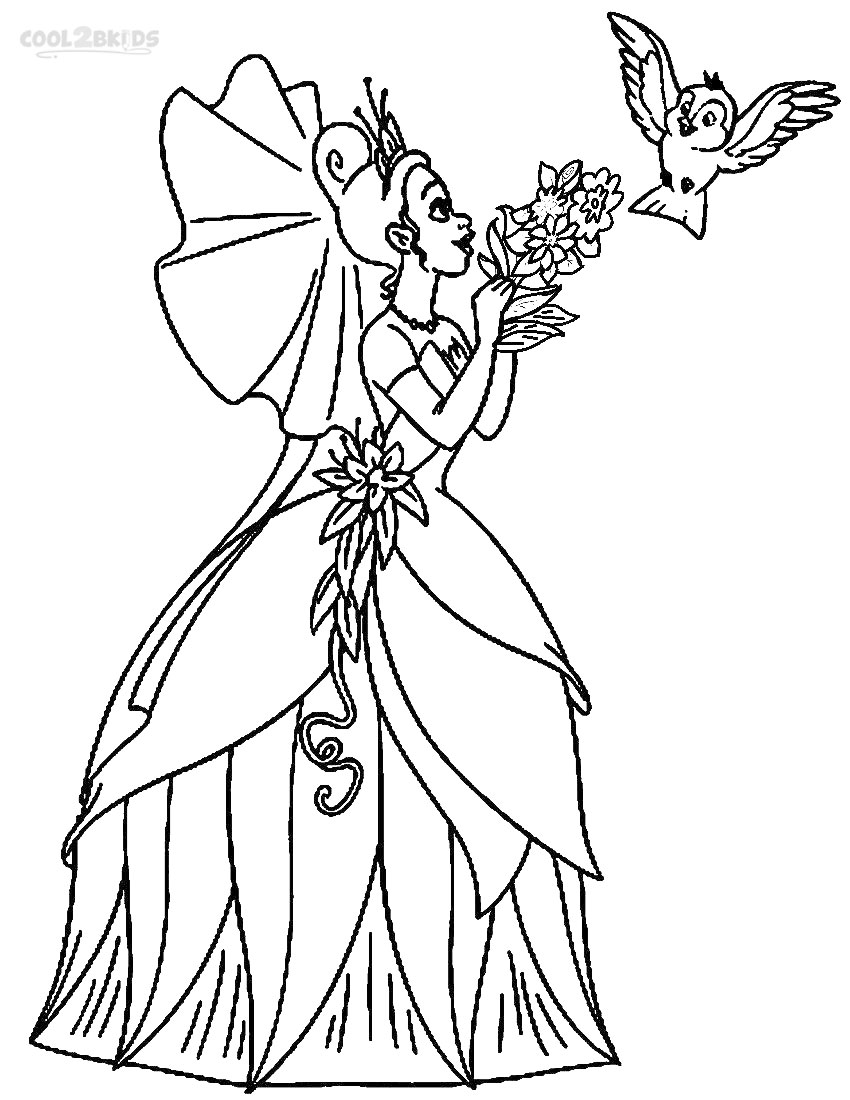 coloring pictures of princesses printable princess tiana coloring pages for kids cool2bkids pictures of princesses coloring