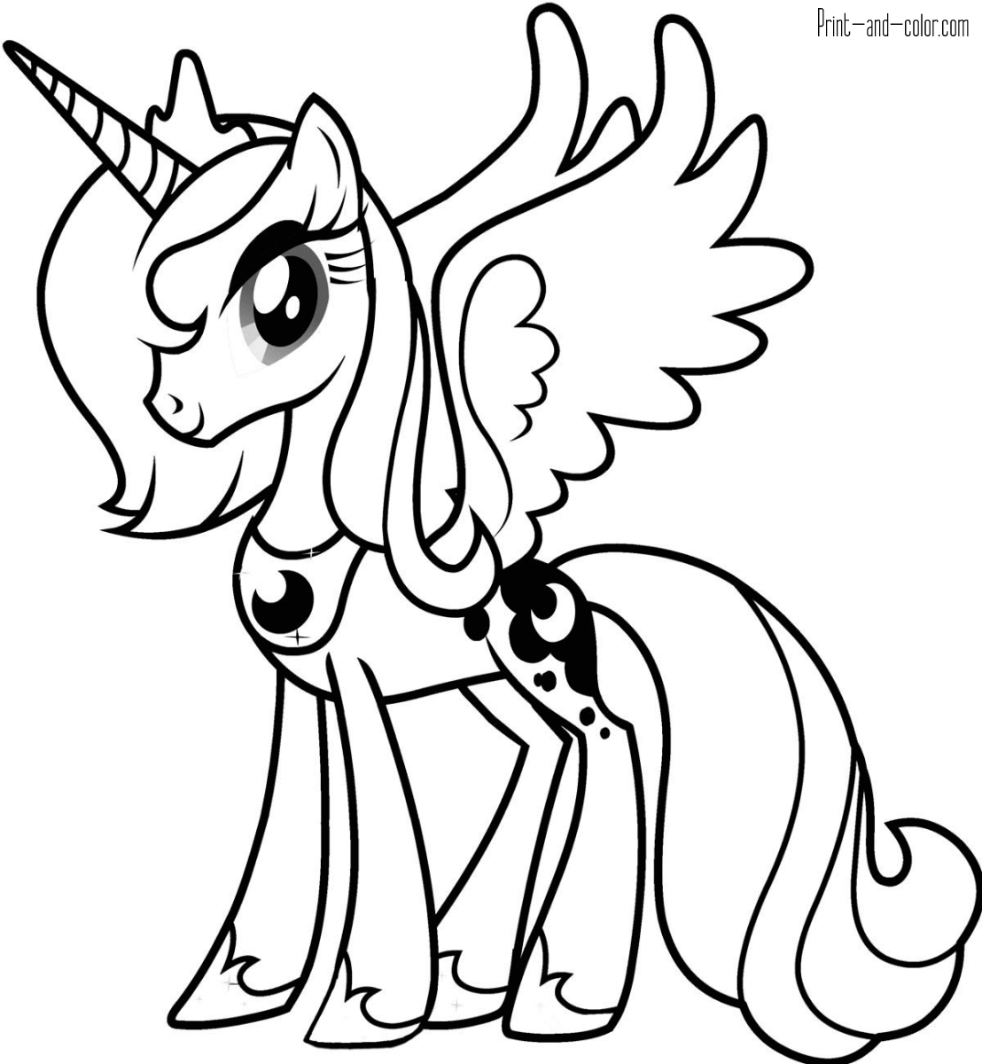 coloring pony my little pony coloring pages print and colorcom pony coloring 1 1