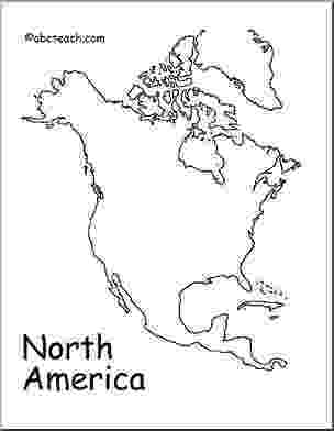 coloring sheet of north america map north america outline abcteach america coloring north sheet of