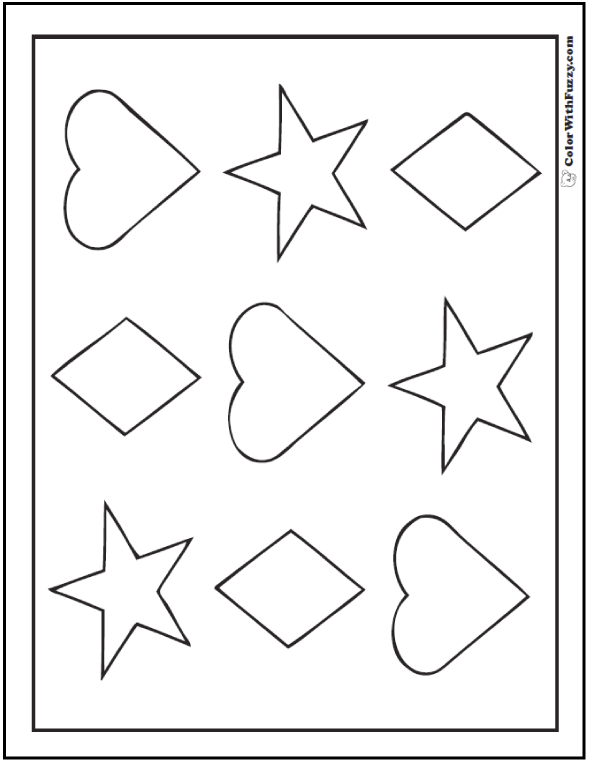 coloring sheet with shapes shape coloring pages customize and print coloring shapes sheet with
