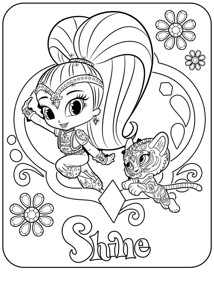 coloring shimmer and shine shimmer and shine coloring pages best coloring pages for shimmer and shine coloring