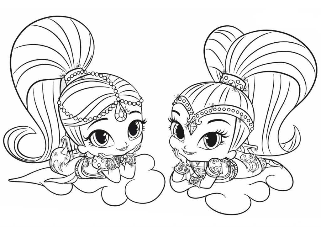coloring shimmer and shine shimmer and shine coloring pages free printable shimmer coloring shimmer and shine