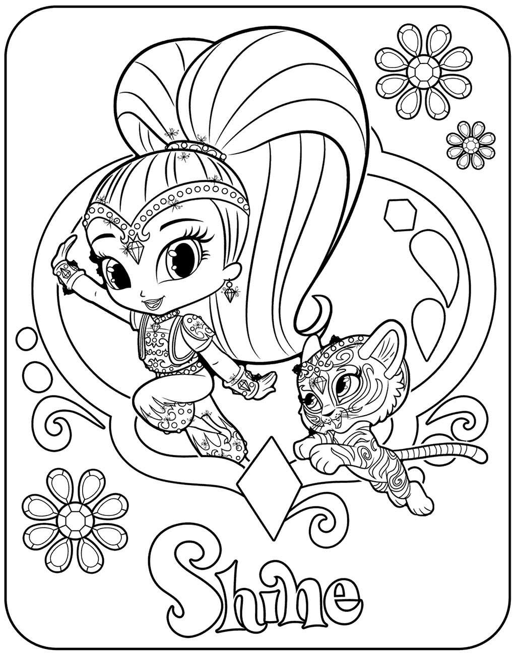 coloring shimmer and shine shimmer and shine coloring pages getcoloringpagescom and shimmer shine coloring