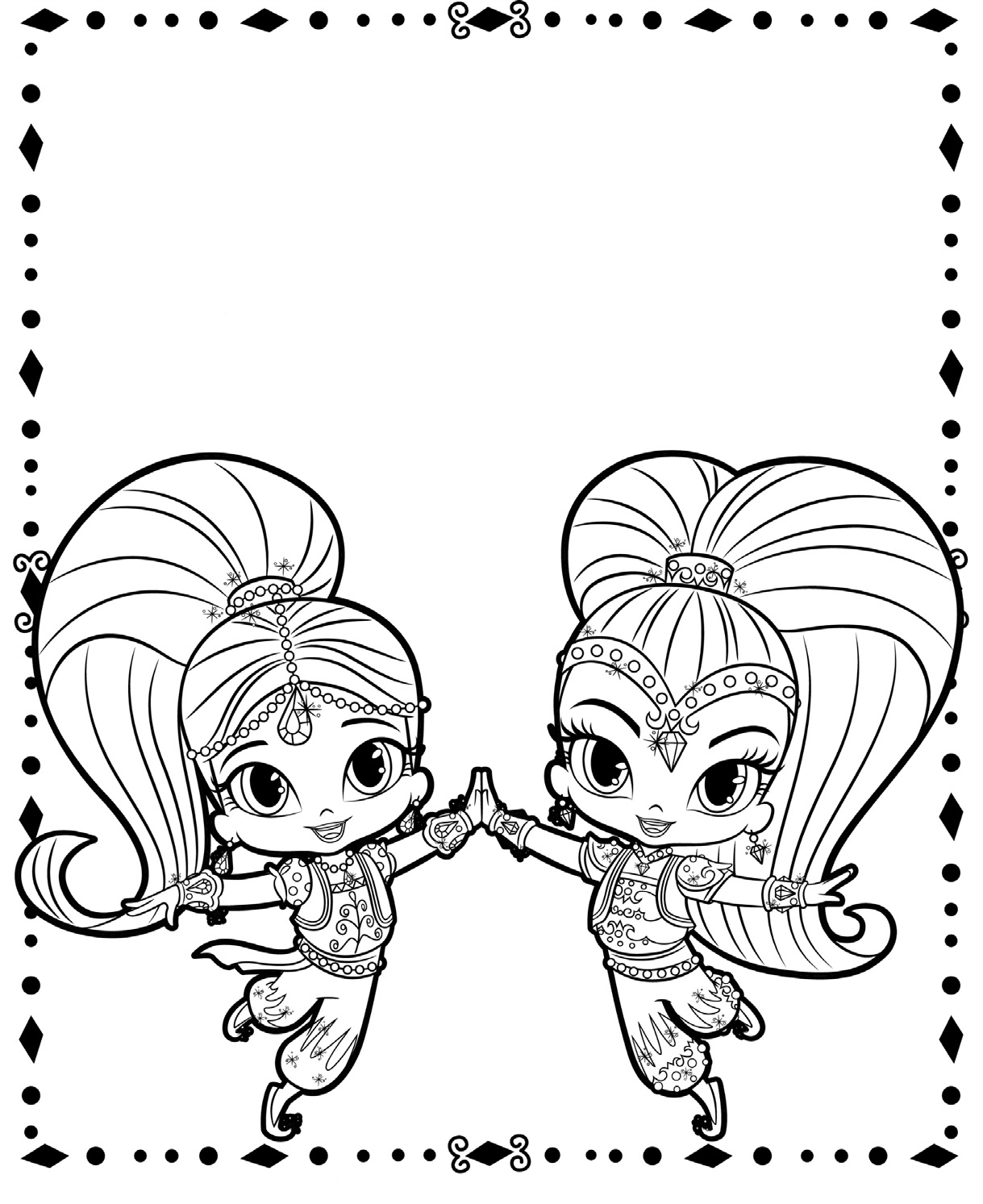 coloring shimmer and shine shimmer and shine coloring pages to download and print for and coloring shine shimmer