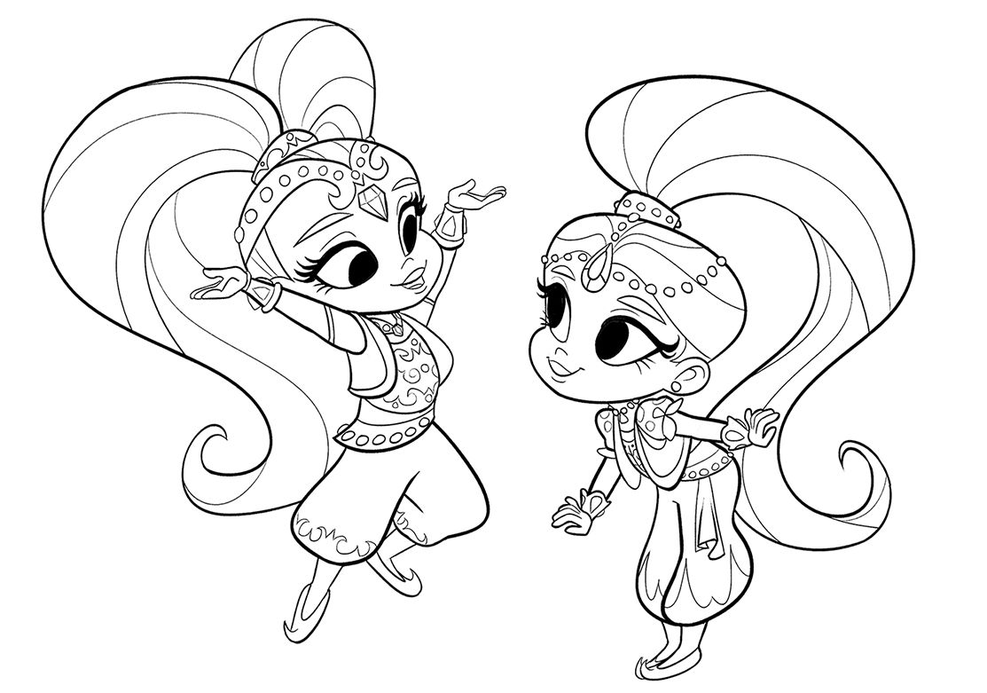 coloring shimmer and shine shimmer and shine coloring pages to download and print for shine shimmer and coloring