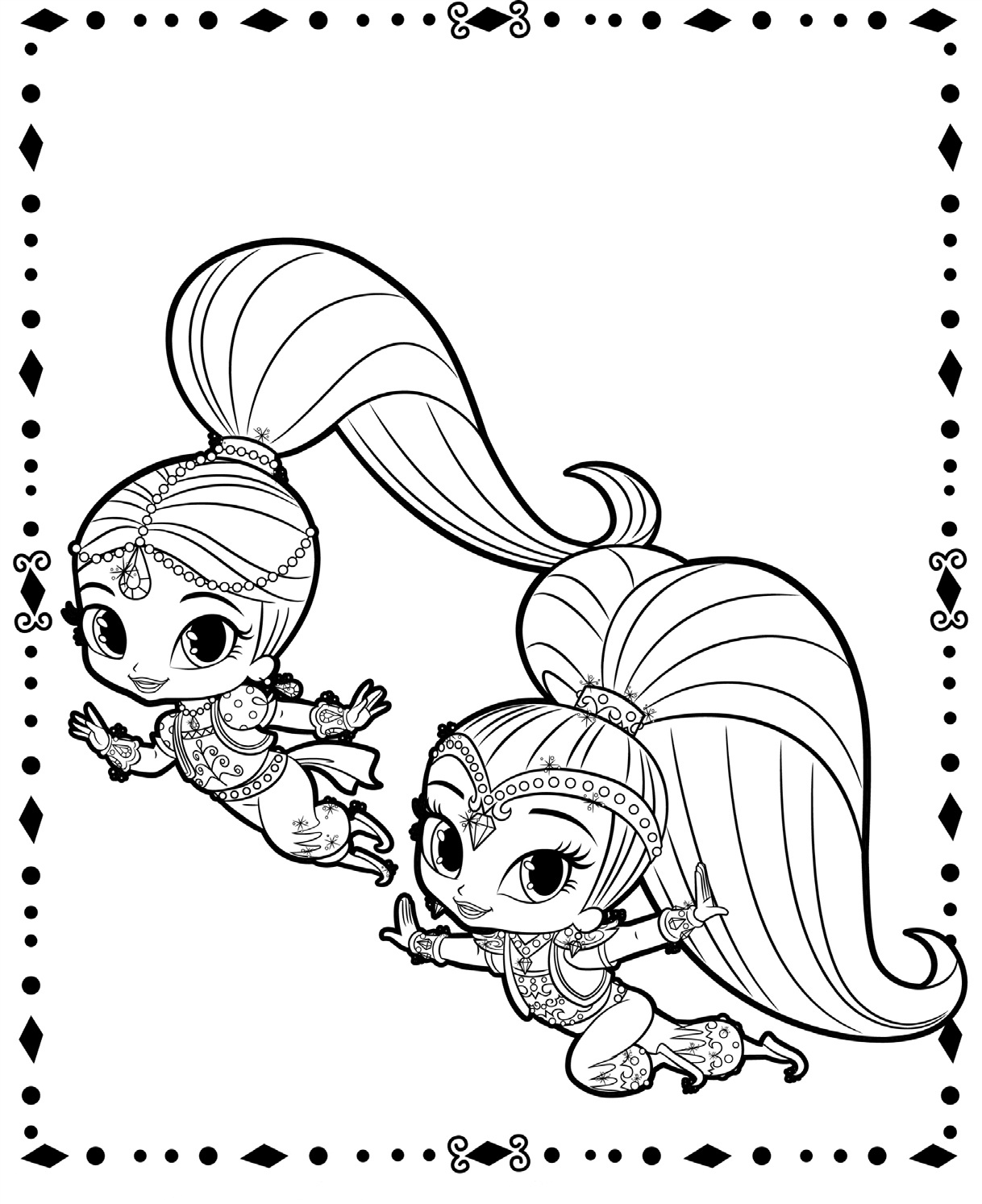 coloring shimmer and shine shimmer and shine shimmer and shine fly on the magic carpet coloring shimmer shine and