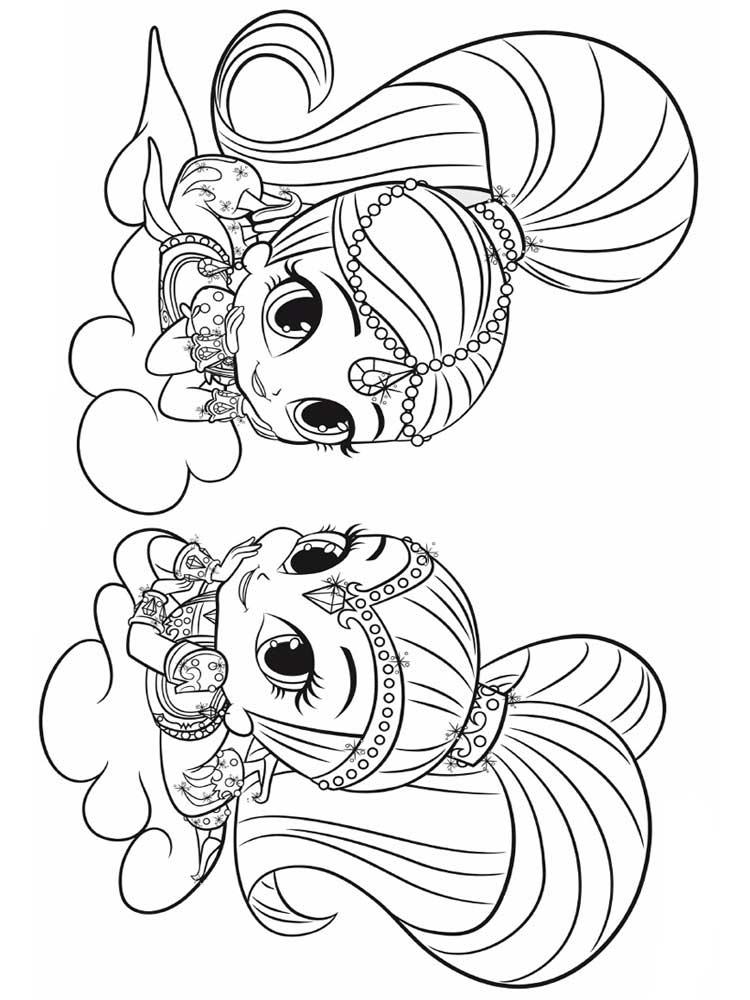 coloring shimmer and shine shine and shimmer coloring pages sketch coloring page coloring and shine shimmer