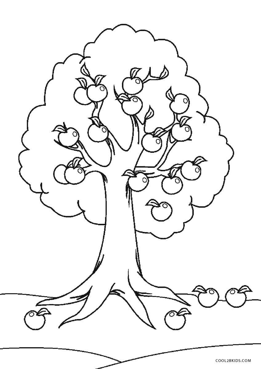 coloring trees free printable tree coloring pages for kids cool2bkids coloring trees 1 1