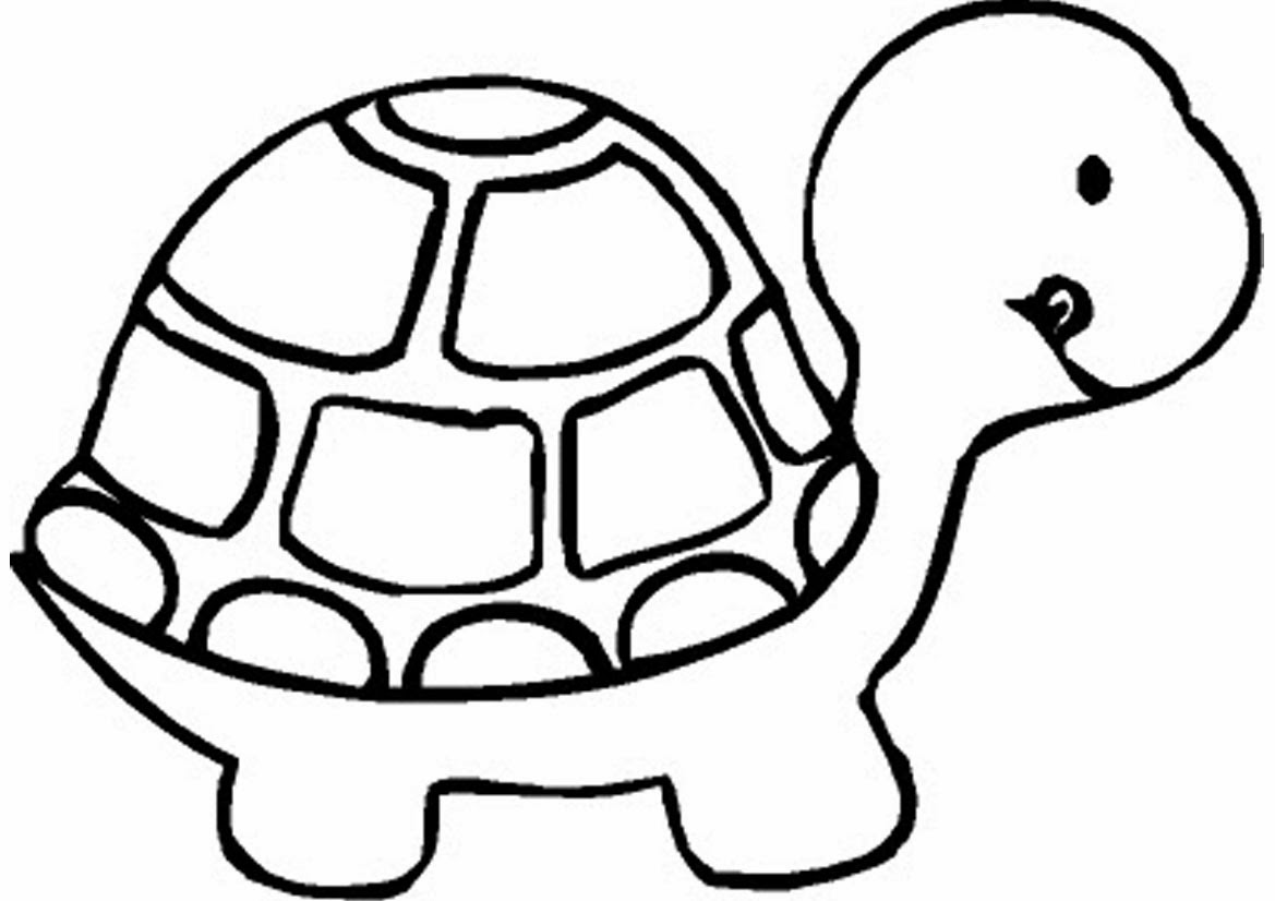 coloring turtles coloring page cute cartoon hatchling of sea turtle stock coloring turtles