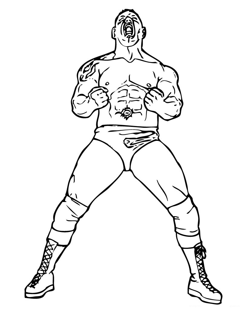 coloring wwe pin wwe printable coloring pages cake on pinterest wwe coloring