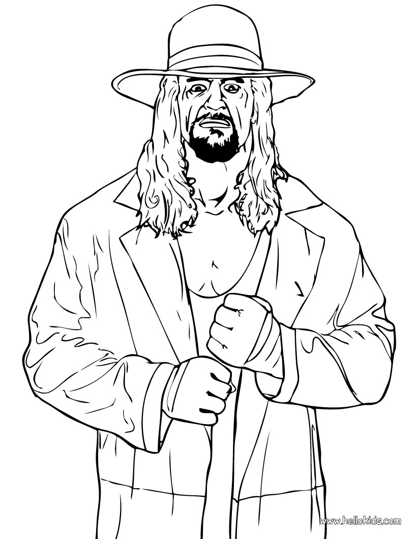 coloring wwe wrestler the undertaker coloring pages hellokidscom wwe coloring