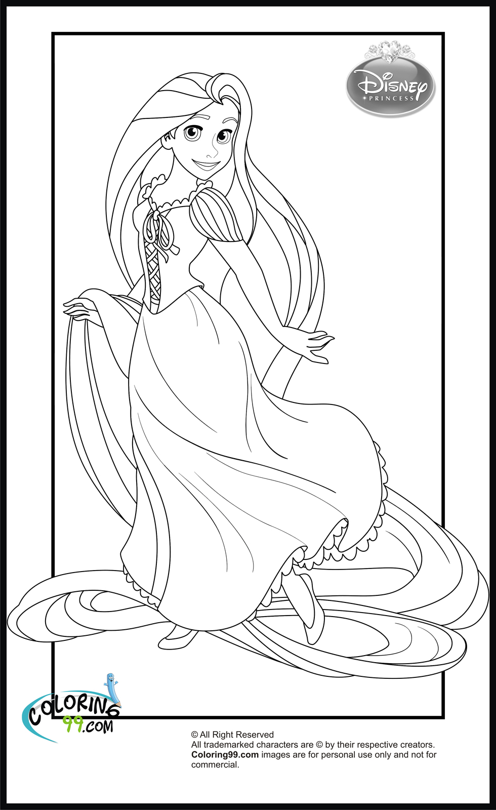 colorings pages free printable tangled coloring pages for kids cool2bkids colorings pages 1 1