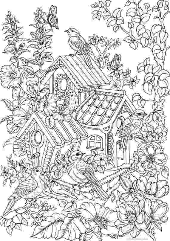 colouring book pages to print birdhouse printable adult coloring page from favoreads print book colouring to pages