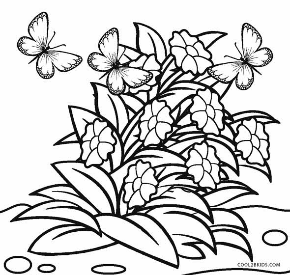 colouring flowers cartoon flowers coloring pages cartoon coloring pages colouring flowers
