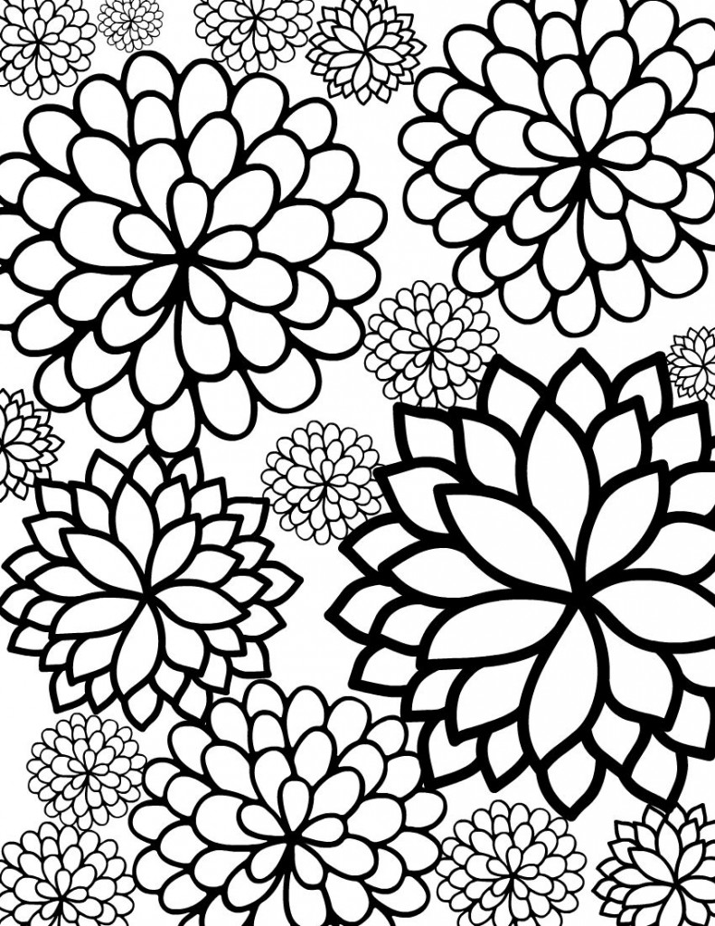 colouring flowers free printable flower coloring pages for kids best flowers colouring 1 2