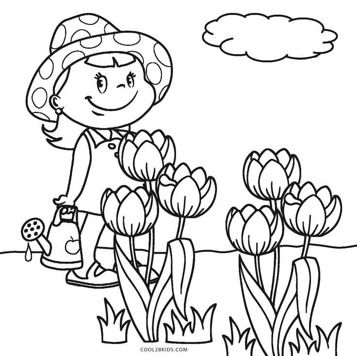 colouring flowers free printable flower coloring pages for kids best flowers colouring 1 4