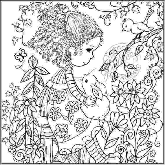 colouring for adults lize beekman adult coloring page lady with bird in the hands digital etsy adults lize beekman colouring for
