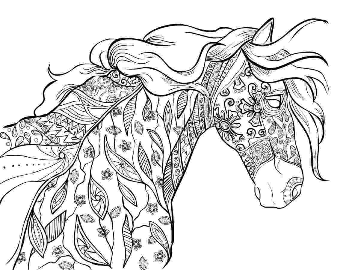 colouring horses horse coloring pages and printables colouring horses