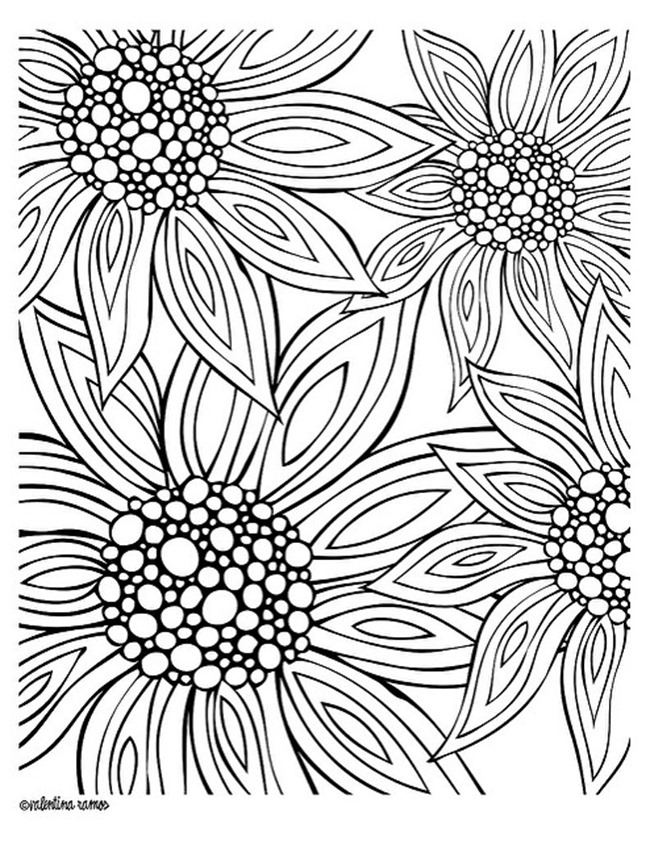 colouring page of flowers 12 free printable adult coloring pages for summer colouring of flowers page