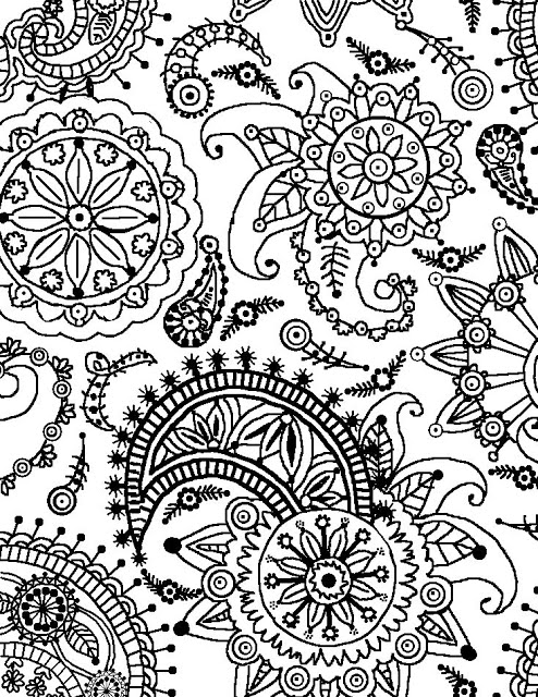 colouring page of flowers coloring page world paisley flower pattern portrait colouring page flowers of