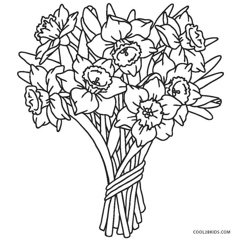 colouring page of flowers spring flower coloring pages to download and print for free of page flowers colouring