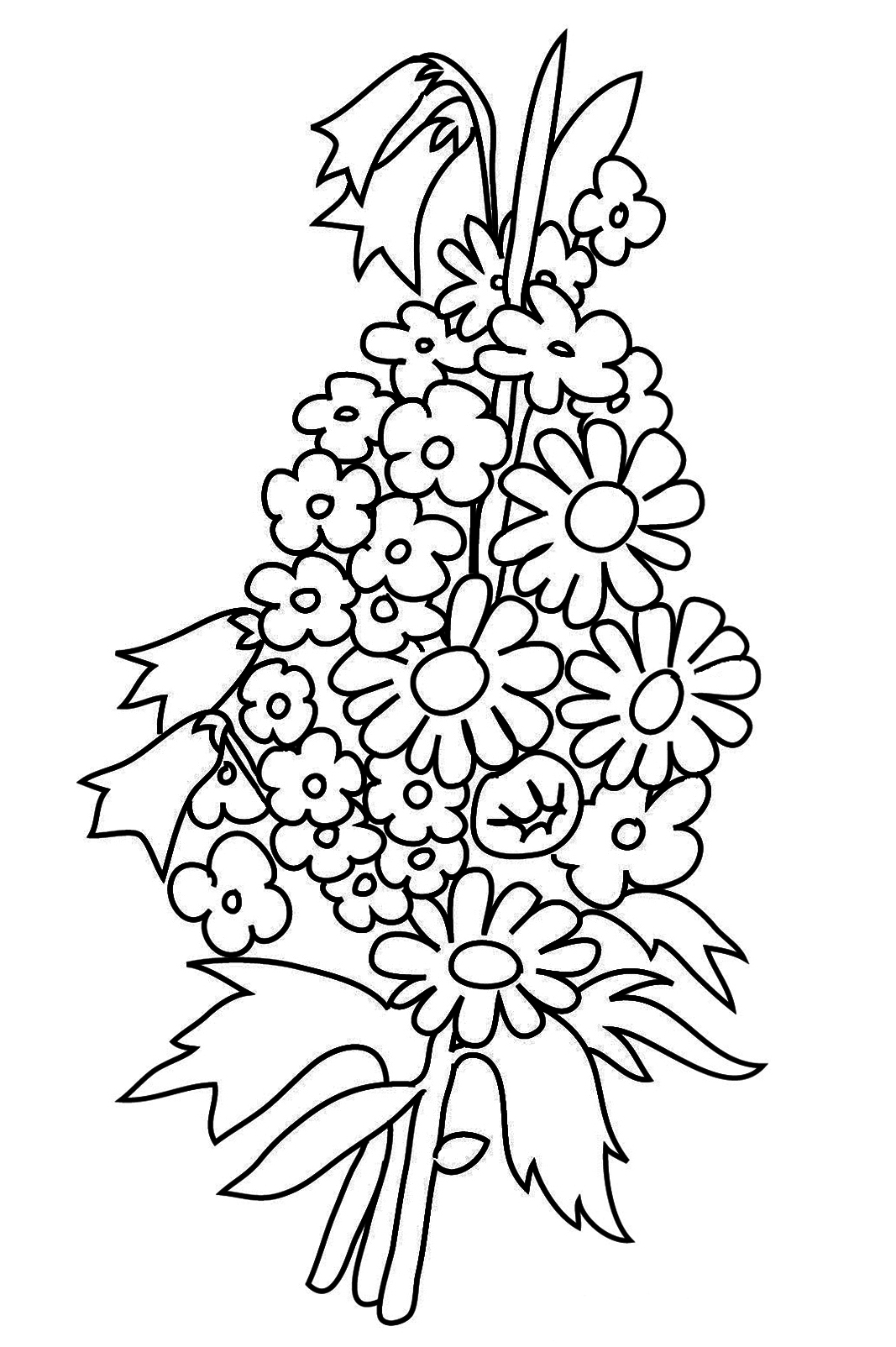 colouring page of flowers summer flowers printable coloring pages free large images colouring flowers page of