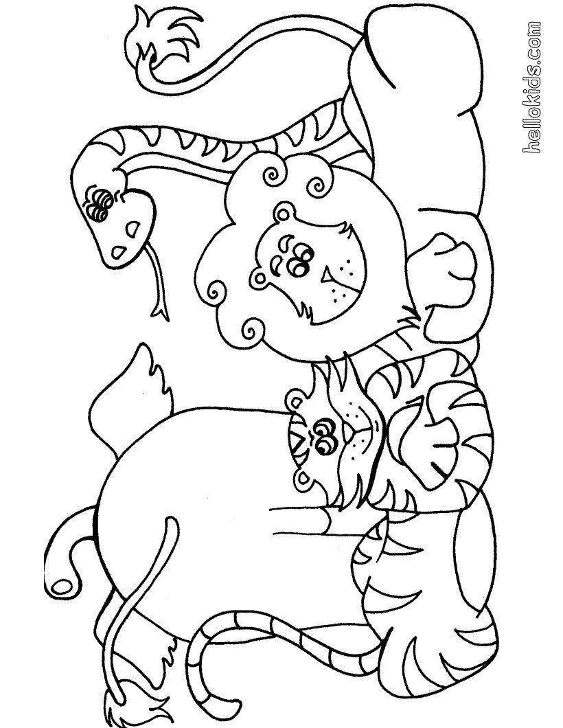 colouring pages big 5 animals africa wildlife coloring page by clark creative science pages colouring animals big 5