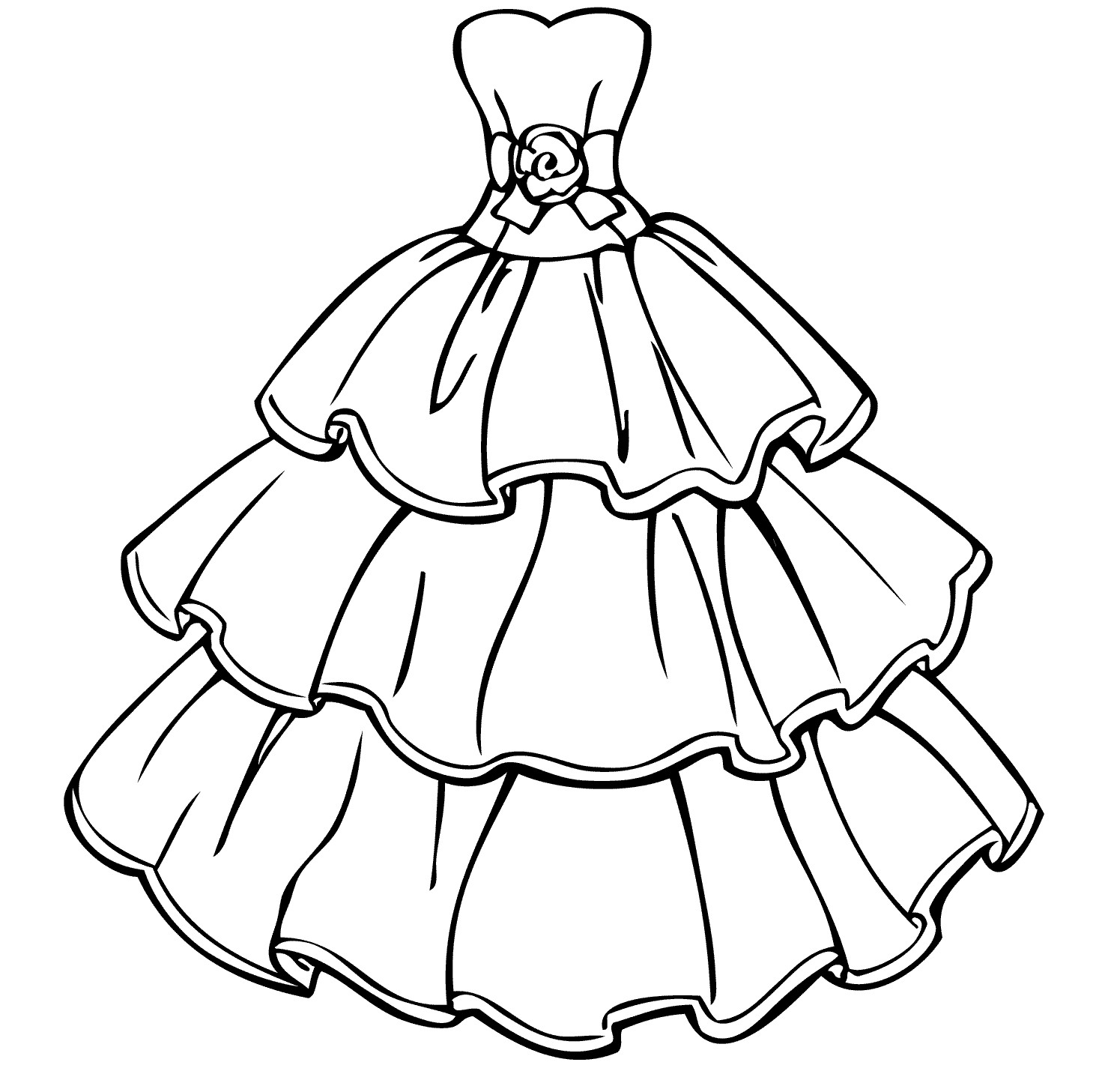 colouring pages dresses dress coloring pages to download and print for free pages colouring dresses