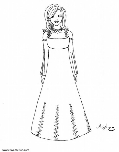colouring pages dresses fashion tips blog dresses coloring pages pages colouring dresses