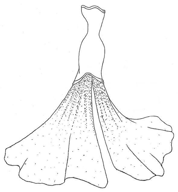 colouring pages dresses my design for my custom made wedding dress weddingbee colouring pages dresses