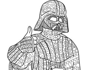 colouring pages for adults star wars Élégant star wars coloriage anti stress haut coloriage colouring wars star pages for adults