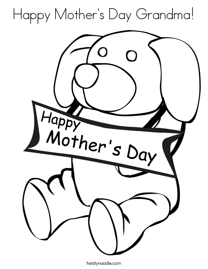 colouring pages for mothers day happy mother39s day grandma coloring page twisty noodle pages day mothers for colouring