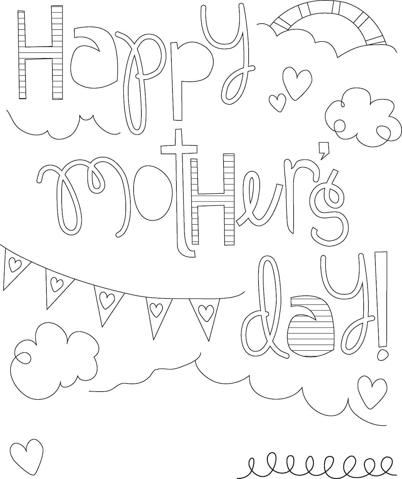 colouring pages for mothers day mcbrides on the go have a colorful mother39s day colouring for pages day mothers