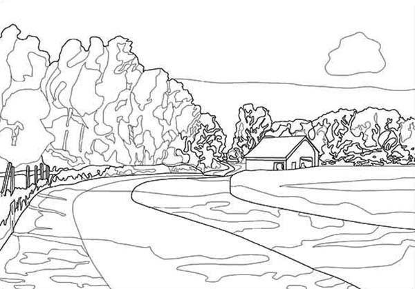 colouring pages landscapes detailed landscape coloring pages for adults part 3 colouring landscapes pages