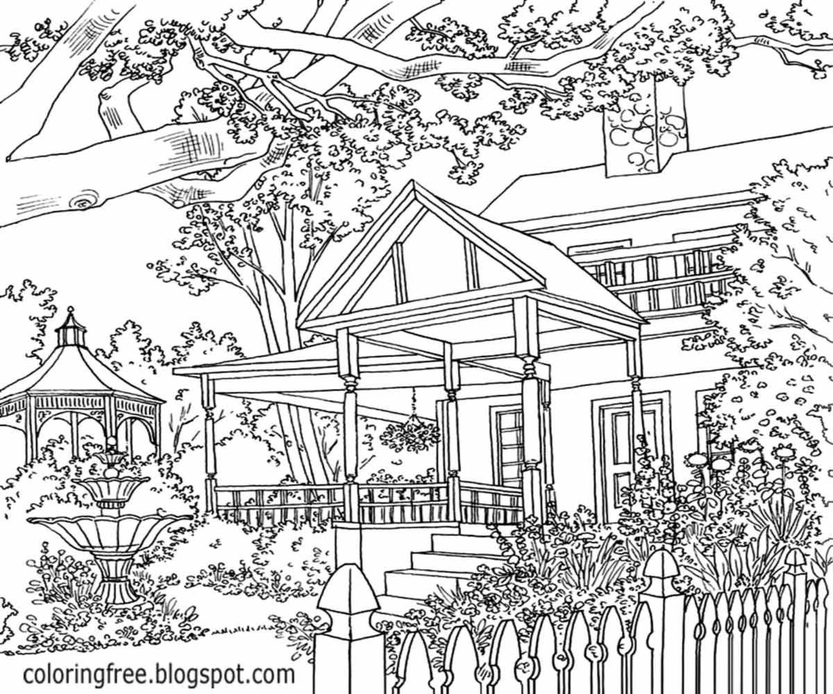 colouring pages landscapes detailed landscape coloring pages for adults part 6 pages landscapes colouring
