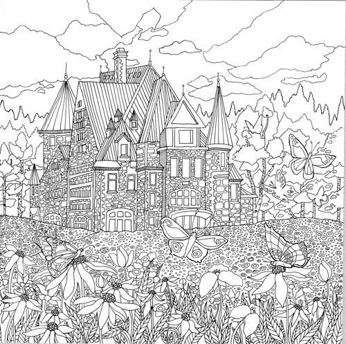 colouring pages landscapes detailed landscape coloring pages for adults part 7 colouring landscapes pages