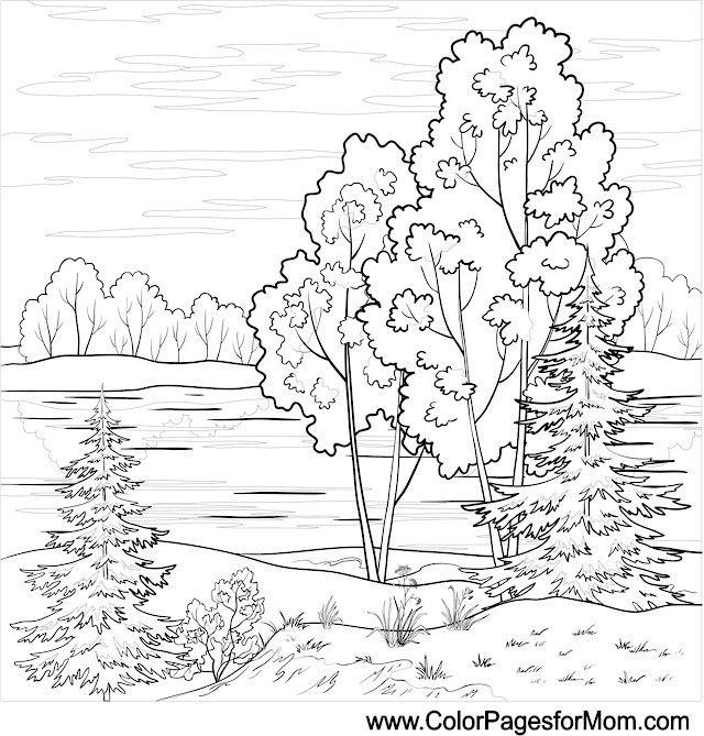 colouring pages landscapes landscape coloring page 16 colorpagesforadults coloring colouring landscapes pages