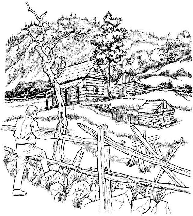 colouring pages landscapes landscape coloring page pages landscapes colouring