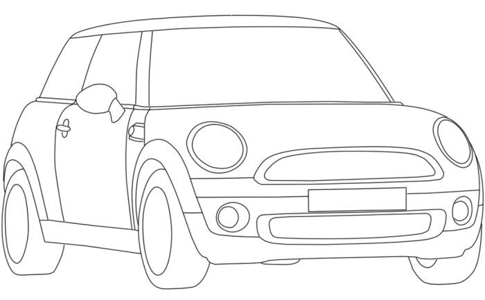 colouring pages mini car mini cooper coupe coloring page free printable coloring mini car colouring pages