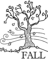colouring pages of autumn trees fall autumn leaves coloring page free printable coloring trees autumn pages of colouring