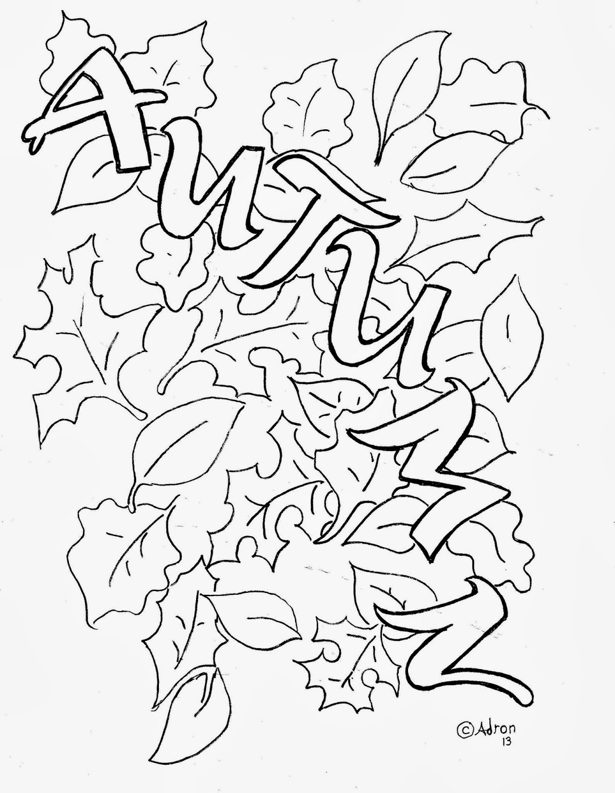 colouring pages of autumn trees fall leaves and acorn coloring page free printable trees of colouring autumn pages