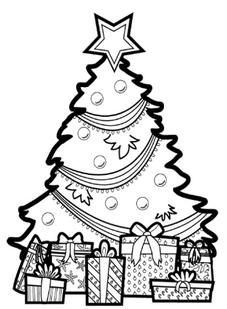colouring pages of christmas tree christmas 2019 40 free printable christmas tree coloring colouring tree christmas of pages