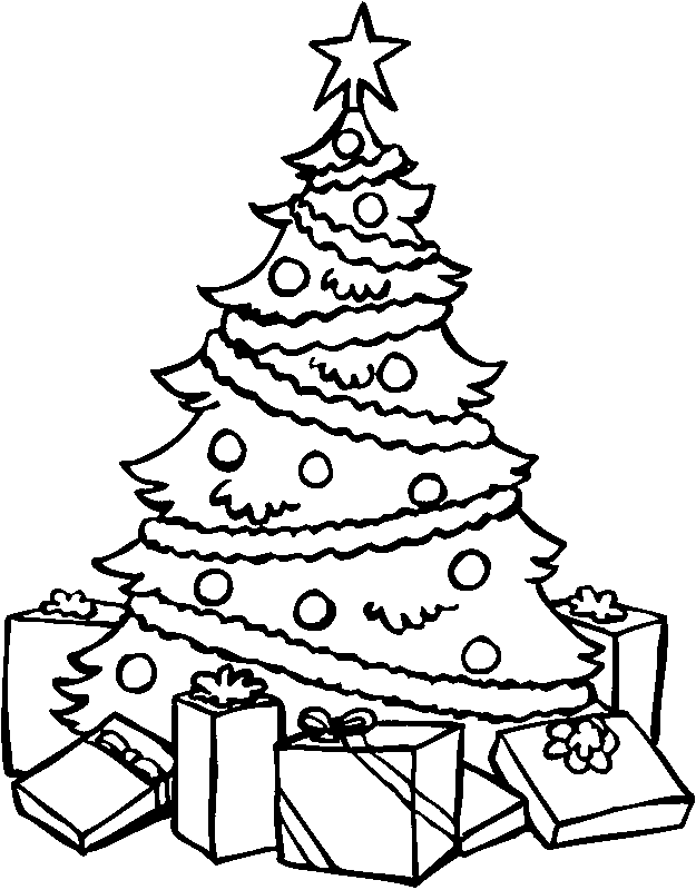 colouring pages of christmas tree christmas tree with presents coloring page free tree colouring of christmas pages